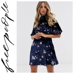 Free People Be My Baby Velvet Dress size 12